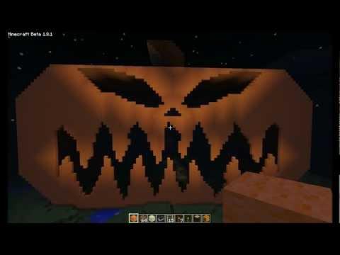 Minecraft - Giant Jack-o'-Lantern - Happy Halloween!
