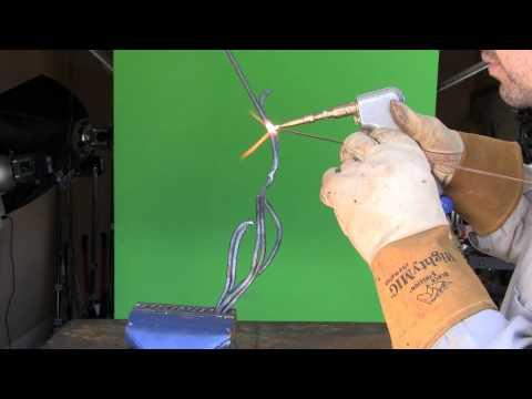 art welding using acetylene tack and bend method. hdc cobra torch