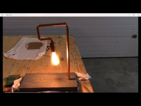 DIY How to make a copper pipe table lamp