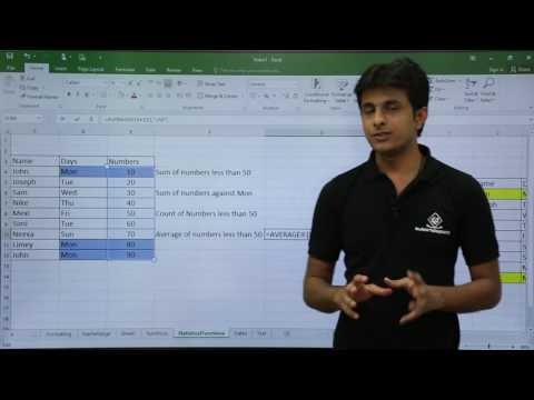 MS Excel - Statistical Functions