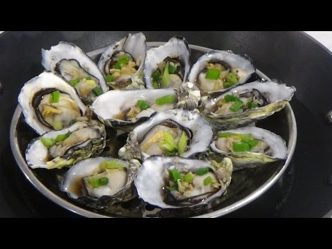 Steamed Fresh Oysters With Ginger & Spring Onion by Foodloverchannel