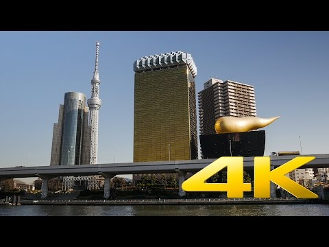 Tokyo Skytree and Asahi Beer Hall  -  東京スカイツリータウン アサヒ・アートスクエア - 4K Ultra HD