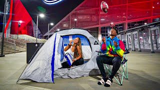I CAMPED OUT AT AN NFL STADIUM TO TRY TO PLAY ON THEIR TEAM.. (DANGEROUS)