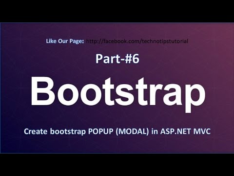 Bootstrap Tutorial - #6 Create Popup in Asp.Net MVC (Bootstrap Modal )