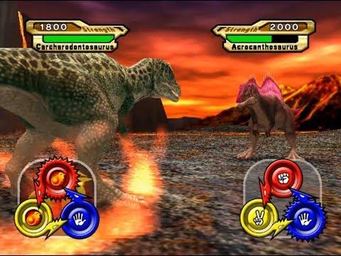 Dinosaur King Arcade Game 恐竜キング - Carcharodontosaurus VS Operation-Dinosaur Rescue 2 [Easy]