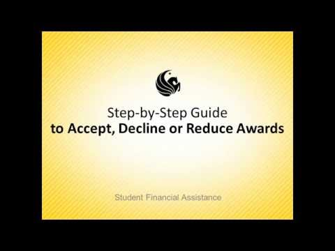 UCF Financial Aid - Accept, Decline or Reduce Loans