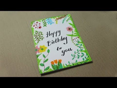 DIY Birthday Cards with flowers - Handmade Cards with flowers