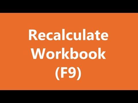 Excel Shortcuts - Recalculate Workbook