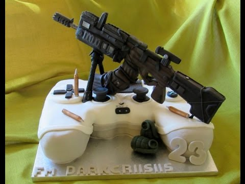 Call Of Duty black ops cake - Fondant Decoration - Ps4 controller