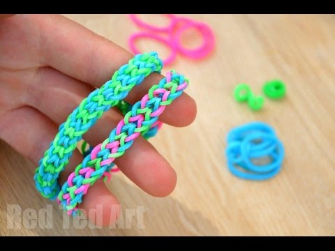 Inverted Fishtail Loom Band using your Fingers