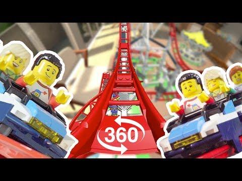 The LEGO Roller Coaster set 360 POV Experience !