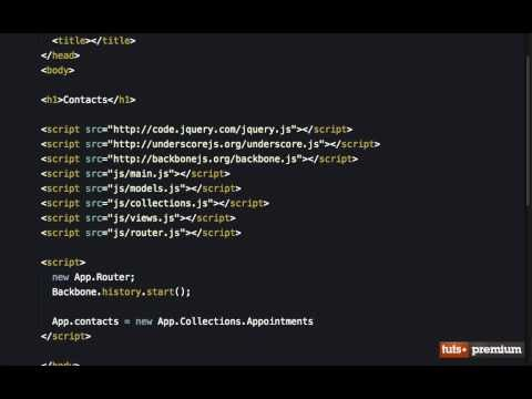 Backbone JS Hands On Contacts Manager Setting Up The Models Views and Collections - 26 tutsplus