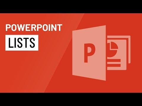 PowerPoint 2016: Lists
