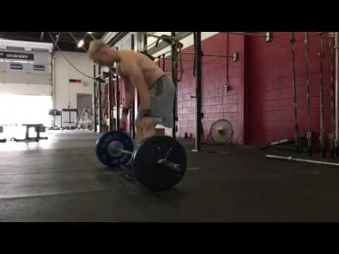 7 rounds - DL + Burpees over bar