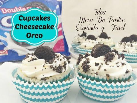 Cupcakes De Cheesecake y Oreo /Mesa De Postres Idea 5 De 9