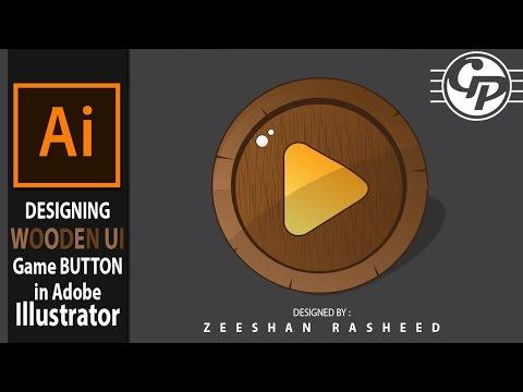 Adobe Illustrator - Games GUI Button Design Tutorial 2017