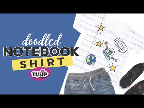 Back to School Fabric Marker Notebook Shirt