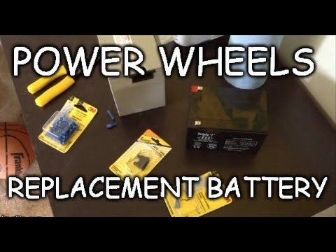 How To: Cheap 12 Volt Power Wheels Replacement Battery Wiring Modification - Powerwheels Modified