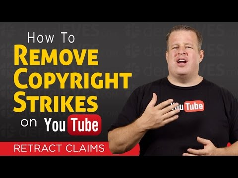 How To Remove a Copyright Strike on YouTube - Retract Claims
