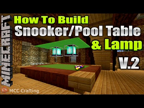 Minecraft How To Build Snooker Pool Billard Ball Table & Lamp V2 Tutorial PS3/4/Xbox/PC