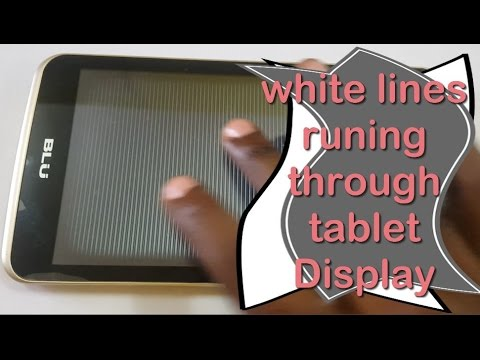 Horizontal white lines runing through tablet screen fix