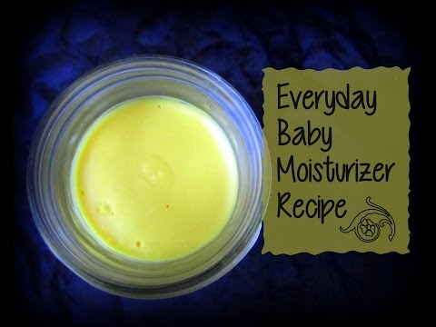 Homemade baby lotion-all natural recipe
