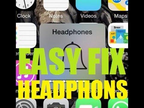 Iphone stuck on Headphone