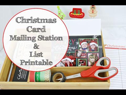 CHRISTMAS CARD MAILING STATION   MAKING A CHRISTMAS LIST PRINTABLE