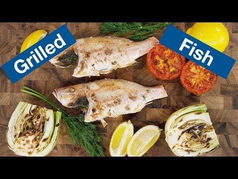 Grilled Fish (Snapper) Recipe On The Otto Wilde OFB Grill || Le Gourmet TV Recipes