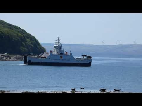 Lochranza Isle of Arran to Claonaig Mull of Kintyre Calmac Ferry Scotland UK