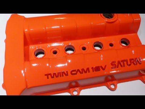Spray painting a valve cover with good results that last.