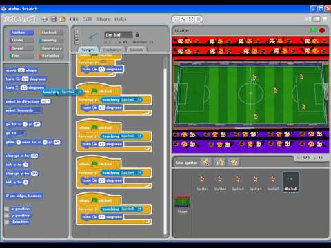 how to make a football game on scratch part 3