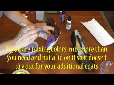 How to Paint Vinyl or Leather Shoes