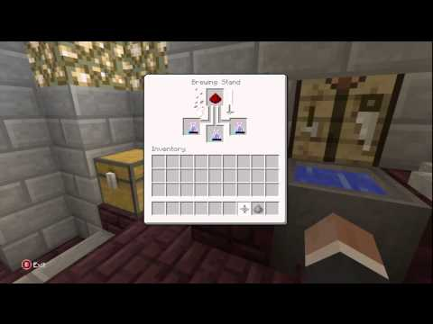 Minecraft for Xbox - How to make a potion of Slowness!
