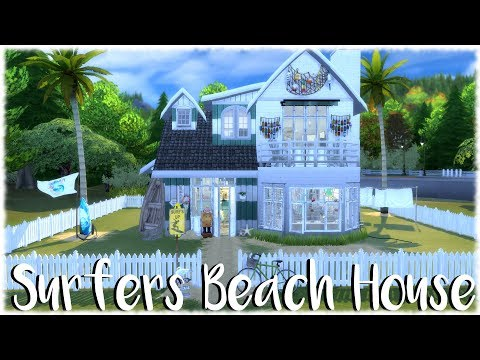 The Sims 4: Speed Build // SURFERS BEACH HOUSE