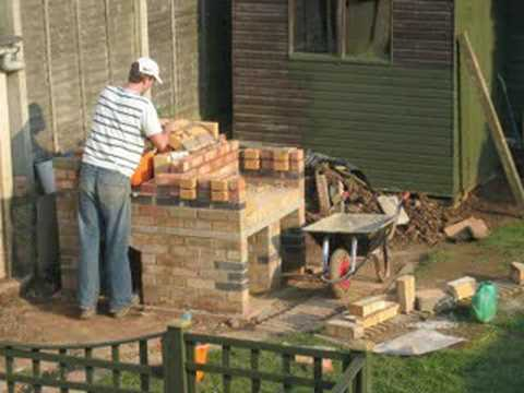 Pizza oven bbq combo construction
