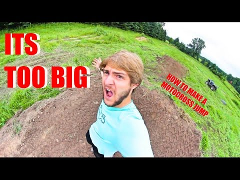 HOW TO MAKE A MOTOCROSS JUMP! - Vlog #39