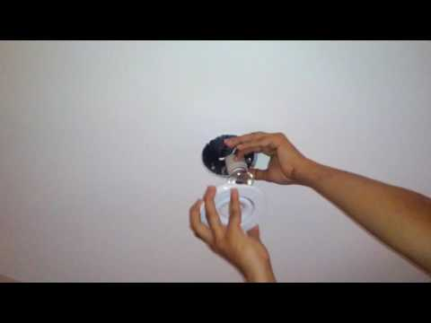Electric: How to replace a 12V ceiling downlight halogen bulb metal ring style