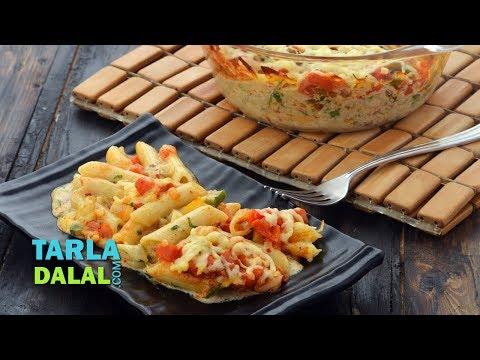 Spicy Mexican Pasta Bake by Tarla Dalal
