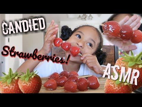 ASMR Candied Strawberries!!! *EXTREME CRUNCH!*