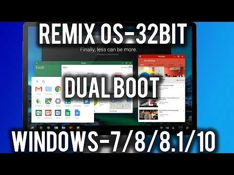 How to Install Remix OS 32-bit (Dual Boot Windows7/8/8.1/10)[legacy]!
