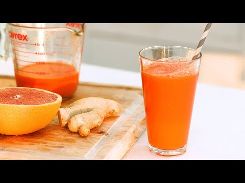 Grapefruit, Carrot, and Ginger Juice- Healthy Appetite with Shira Bocar