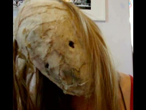 halloween how to: Make a burlap face mask