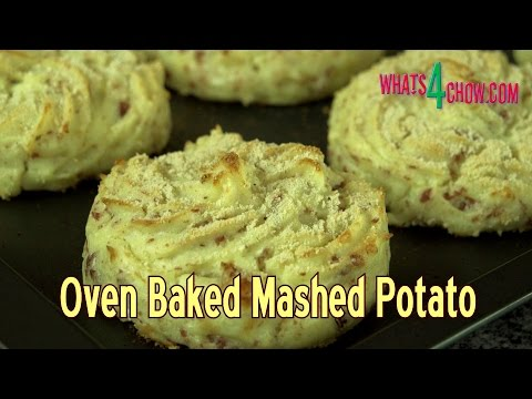 Oven Baked Mashed Potatoes - Crispy on the Outside, Tasty and Creamy on the Inside!!!!!