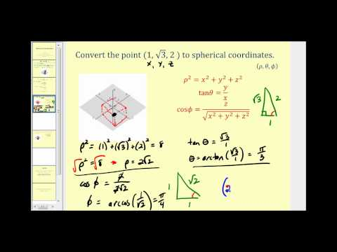 Introduction to Spherical Coordinates
