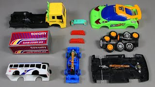 Assemble Cover Van ,Sports Car and Super Police Bus | Toy Vehicles Attached | PlayToyTime TV