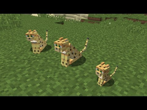 Minecraft - How to get a tamed Ocelot [gm1] 1.12