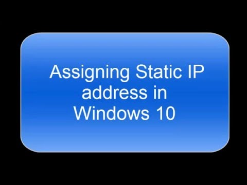 How to assign Static IP address in Windows 10