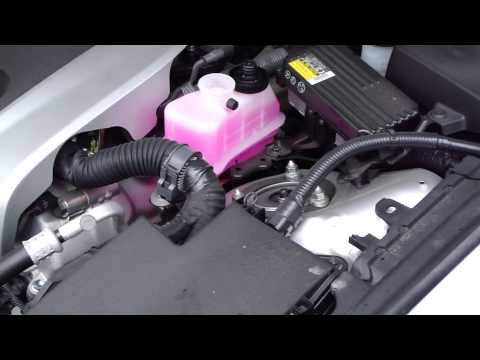 How to check coolant levels Lexus GS450 hybrid. Years 2006 to 2019.