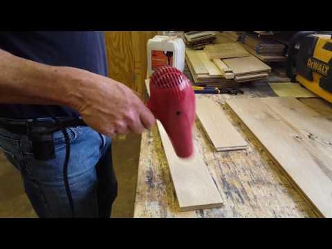 Wood Floor samples bleached